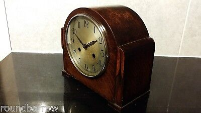 1930's Art Deco 8 Day Chiming Mantel Clock By Haller -  Good Working Order