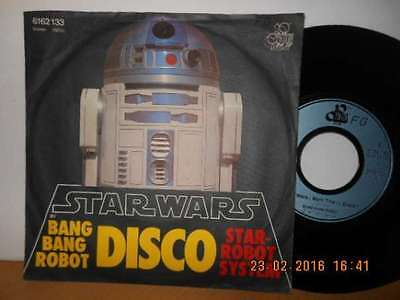 "7"" Rarität 1977 ! BANG BANG ROBOT - Star Wars (Main Title) ( DISCO )"