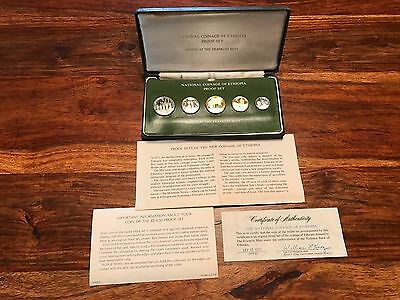 T2: World Coin Proof Set Ethiopia 1979 COA + Case + Free Shipping in U.S.
