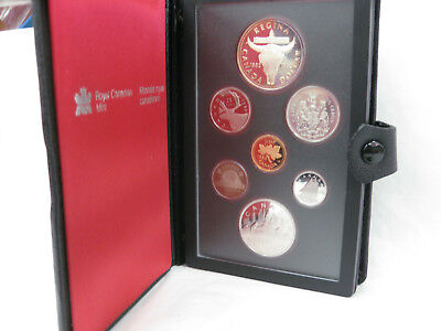 1982 Royal Canadian Proof Set Silver Dollar And Nickel Dollar  With Skull O