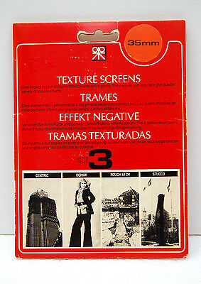 TRAMES PATERSON 35mm SET n°3 - TEXTURES SCREENS PATERSON