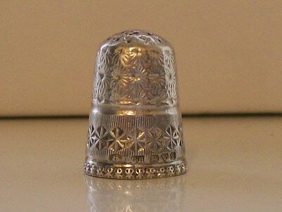 Charles Horner Solid Silver Thimble (6) Chester 1911 (Louise Rim)