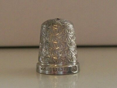 Henry Griffiths & Sons Sterling Silver Thimble Hallmarked Birmingham 1929