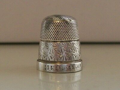 Vintage Sterling Silver Thimble (15) Hole to the Top, etc
