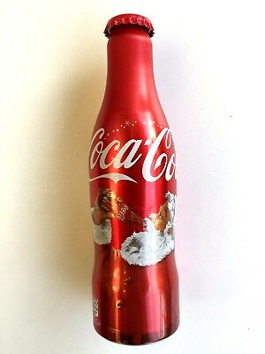 Coca cola  Christmas aluminum bottle rare special