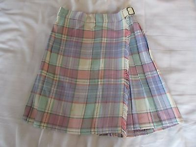 Gorgeous Vintage St Michael M&S girls tartan pleated skirt age 5 years excellent