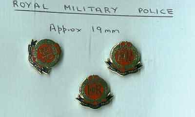 3 enamelled lapel badges for the ROYAL MILITARY POLICE with Pinnit Fitting