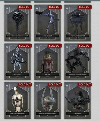 Topps Star Wars Dreadful Droids OE Complete Set with Awards *Digital Cards*