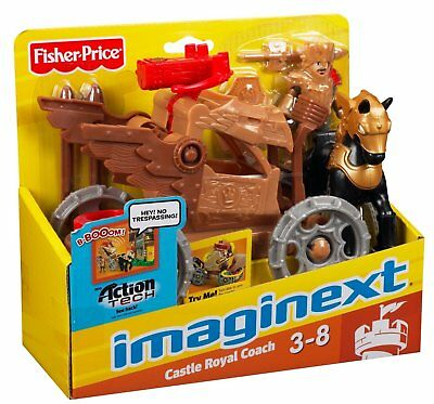 Fisher Price Imaginext Castle New Knight Box Royal Coach Action Tech horse wagon