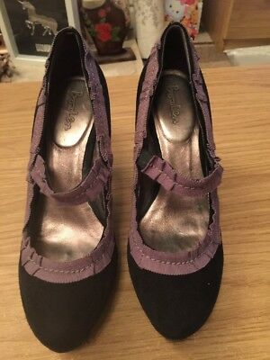 Ladies Black Heeled Shoes Size 5 From Boden