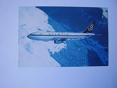 Postcard Olympic Airways Airbus A300