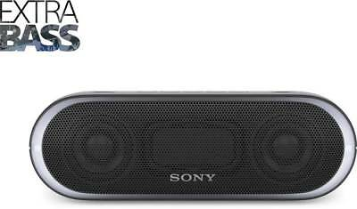 Sony SRS-XB20 Portable Wireless Speaker with Extra Bass and Lighting Black