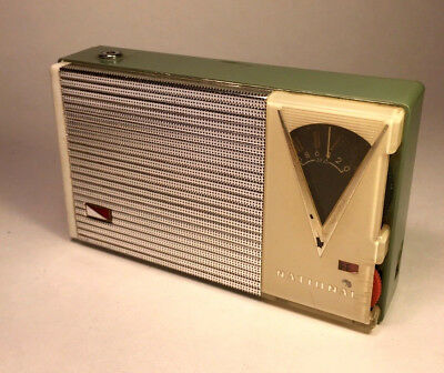 Rare NATIONAL AT-235 Reverse Painted Old Vintage Transistor Radio made in Japan