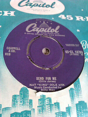 L@@k Nat King Cole Send For Me / My Personal Possession Capitol Rock N Roll Vg+