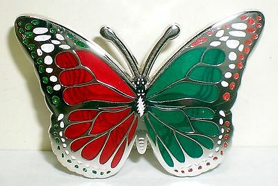 Butterfly Translucent Red & Green Steal Your Face Grateful Dead PIN