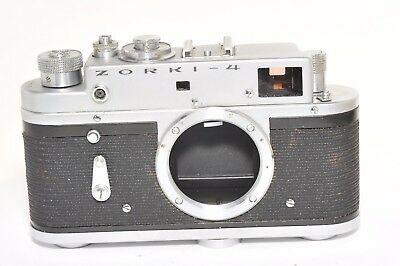 Zorki 4 rangefinder camera body based on Leica,  after CLA services, from 1973