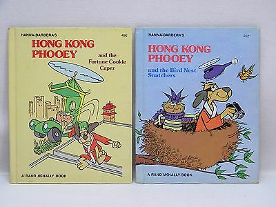 Lot of 2 Vintage 1975 Hanna-Barbera's HONG KONG PHOOEY Rand McNally Books HC