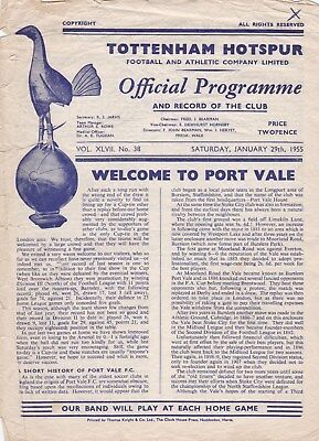 * 1954/55 - TOTTENHAM v PORT VALE FA CUP (29th January 1955) *