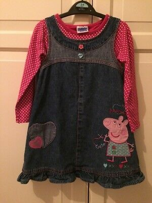 Girl's Outfit Age 3-4 Peppa Pig pinafore and top