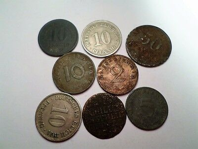 Set of 8 Old Coins From Germany-(RECOMMEND)-++