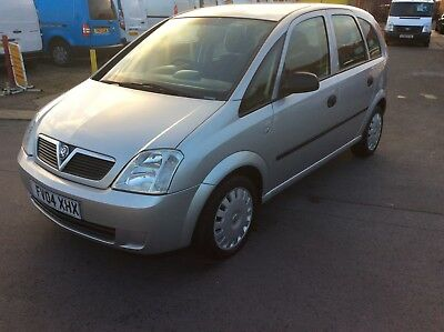 Vauxhall Meriva 1.6 Life Mpv No Reserve Auction.