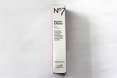 NO7 RESTORE AND RENEW EYE CREAM 15ml HYPO ALLERGENIC