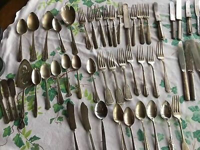 Lot 56 Silverplate Flatware Mixed