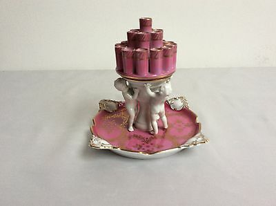 Lovely dresden Germany Potschappel cigaretteholder porcelain figurine Mint