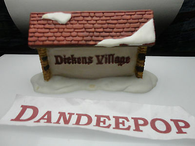 """Dept. 56 Department 56 Dickens Village Sign Accessory Retired 5"""" long"""