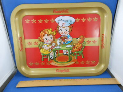 Vintage Campbell's Soup Metal Serving Tray 1998 Collectible Snack Table