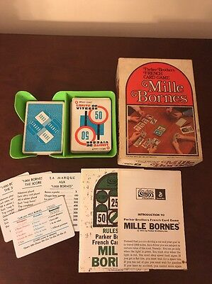 Mille Bornes Vintage French Card Game Parker Bros