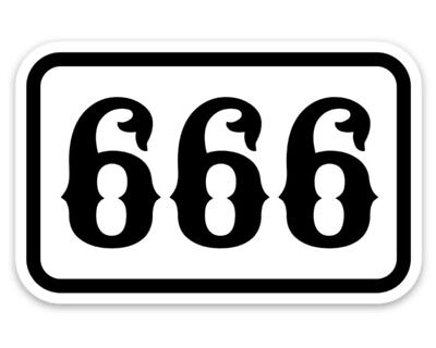 666 Sticker, Satan, Panhead, Chopper, Odin, Harley, Heavy Metal,