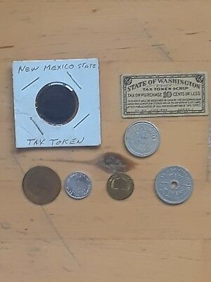 lot of vintage tax token free shipping in the USA