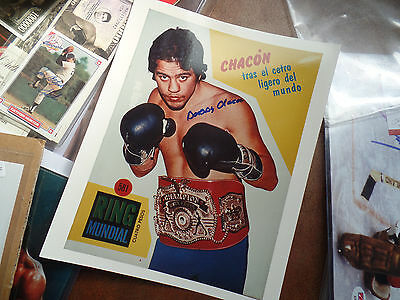RIP BOBBY CHACON Hand Signed 8x10 autograph auto Schoolboy WORLD Boxing CHAMP