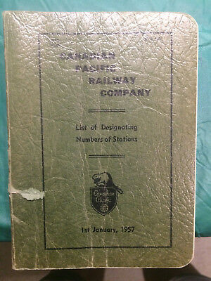 Canadian Pacific Railway Official Station List - 1957