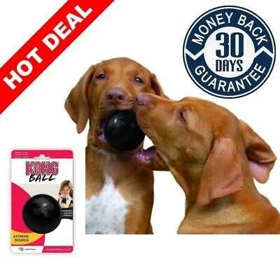 Black Kong Extreme Dog Toy Large Rubber Ball Tough Chew Durable Pet Fetch Toys