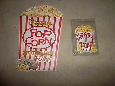 Theater Advertising Popcorn Plaque Light Switch Plate Home Decor Wall Hanging