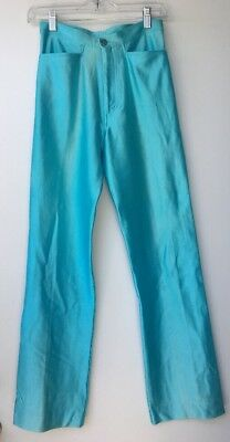 Disco Spandex Pants Light Blue High Waisted Bojeangles Jeans Size S/M