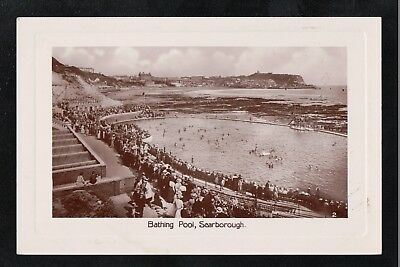 Bathing Pool Scarborough 1920's? RP Postcard Yorkshire ~ GOOD QUALITY CARD