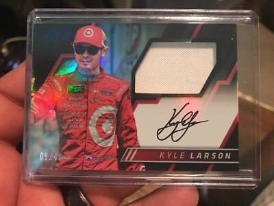 2017 Absolute Racing KYLE LARSON Patch On Card Auto 9/49