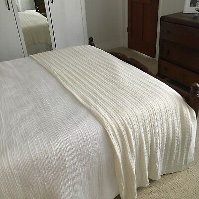 Jigsaw Cotton X Cashmere Cream Cable Knit Throw BNWT Perfect Condition