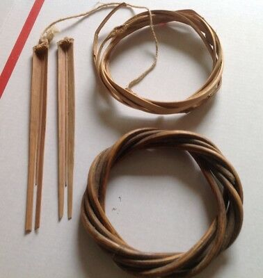 Old Asmat Woven Bracelets And Tools Irain  Jaya New Guinea Field Collected