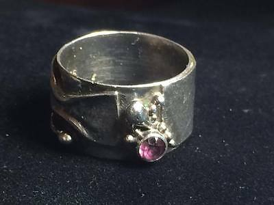 Hand crafted amethyst sterling silver ring
