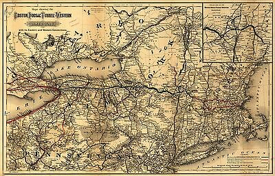 12x18 inch Reprint of American Railroad Map Eastern