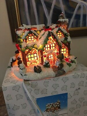 Charming Tails By Fitz And Floyd Holly Day Light Up House 87/128