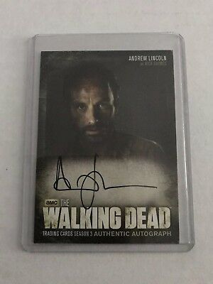 Walking Dead Trading Cards Season 3 Autogragh Card Rick Grimes