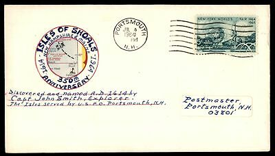 Mayfairstamps ISLES OF SHOALS 350TH ANNIVERSARY PORTSMOUTH NH JUL 4 1964 CACHET