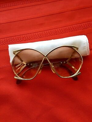 Vintage Christian Dior butterfly eyeglasses, gold, 110