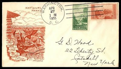Mayfairstamps GRAND CANYON NATIONAL PARK ARIZONA APR 27 1935 CACHET ON COVER