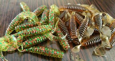 20x MIXED quality soft plastic Lures Grubs lures flathead, tailor, jacks 6cm